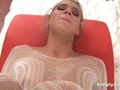 Picture Dirty slut Ally fills her mouth with cum aft...
