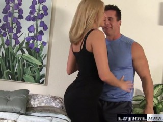 Madison gets her tight hole stuffed and fucked by step brother