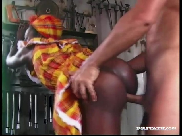 Ebony Teen Pounded White Cock