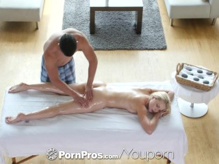PornPros - Stunning blonde Staci Carr goes in for massage and gets fucked
