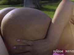 Picture Curvy Latina does the Yoga instructor