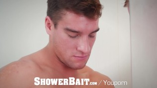 ShowerBait - Jordan Boss Fucks Horny Gay Friend Scott Riley