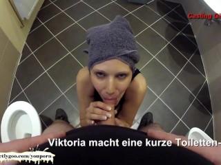 Bathroom POV Blowjob with Sexy MILF Viktoria - German Goo Girls