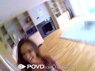 POVD Stunning Layla London big tits massage in POV