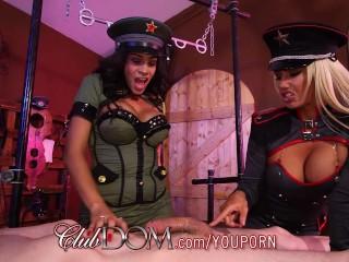 Jamie Valentine & Olivia Enjoy Slave Milking Day