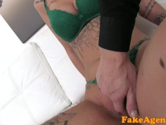 Picture Fake Agent Agent fucks new blonde big tits m...