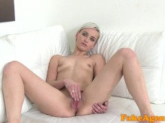 Picture Fake Agent Hot short haired blonde model fuc...