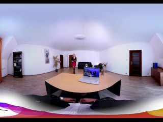 HoliVR 360VR _ Gorgeous MILF Secretary fuck her boss in the office