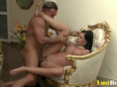 Picture Larissa Dee sucking his cock and getting sha...