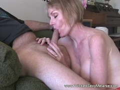 Picture Blonde Melanie On Her Blowjob Session