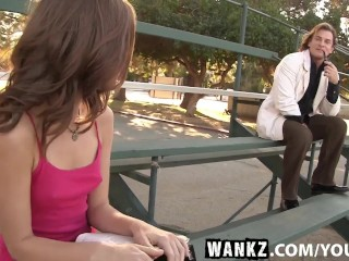 WANKZ- Sexy Spinner Riley Reid Has Her Very Tight Pussy Stretched