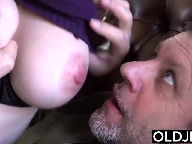 Old Young Amazing Big Tits Girl Fucks Old Man Cums In Her -5749