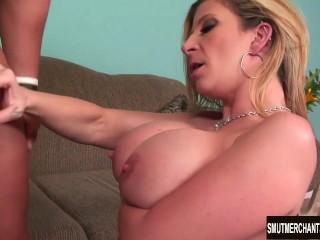 Big tittied MILF fucks hard