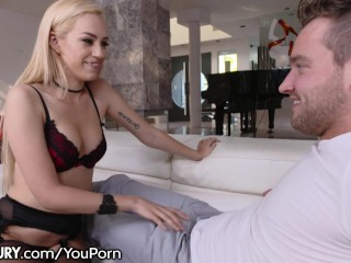 21Sextury Step-Brother Cums on Her Hairy Pussy