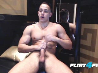 Latin Hunk Blasts a Huge Load On His Tight Body