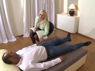 Big Titty Czech psychologist gets her ass fucked hard in the office