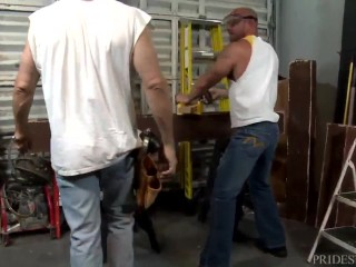 Construction Daddy Injects his Thick Cock
