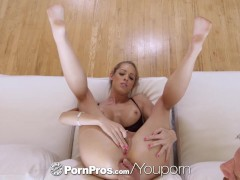 Picture PORNPROS Lean Brooke Logan shoves objects in...