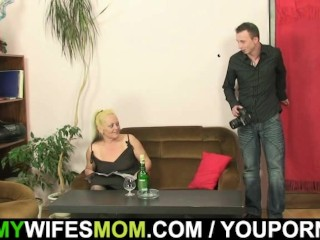 Nude photosession and sex with mother-in-law