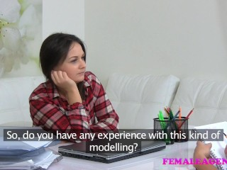 Female Agent Masturbation and sexy lesbian pussy licking
