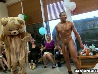 Alaina s Dancing Bear Birthday Fiesta with Massive Pecker Male Strippers