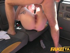 Picture Fake Taxi Young Girl 18+ gets taxi facial in...