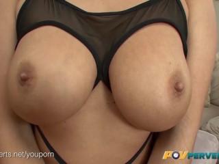 Karlee Grey and Noelle Easton Huge Boobs POV Threesome