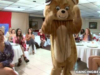 Mega big Pecker Male Strippers plus a Fluffy Dancing Bear Entertaining Women (db992