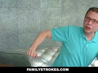 FamilyStrokes - Seduce By Lesbian Step-Mom To Fuck