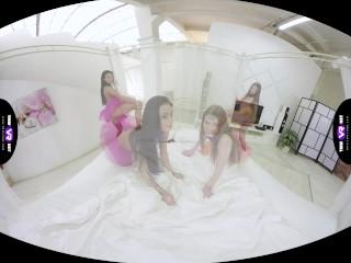 TmwVRnet.com - Nedda, Lexi Dona - Hot lezzies use a double dildo