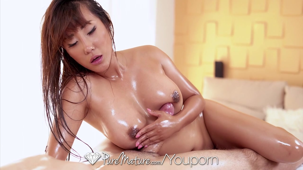 Busty mature asian milf