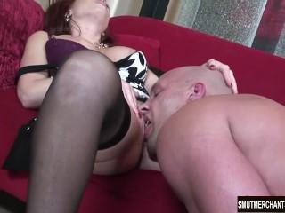 MILF pornstar fucks and facial