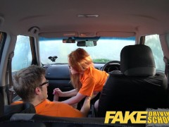 Picture Fake Driving School sexy ginger geek girl in...
