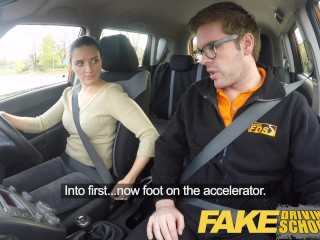 Funny/the driver fake car get