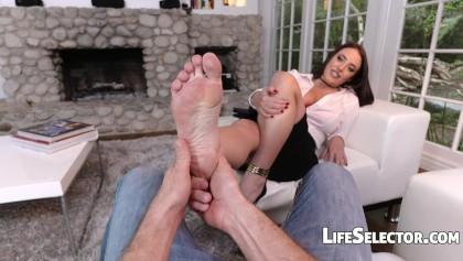 Angela white feet