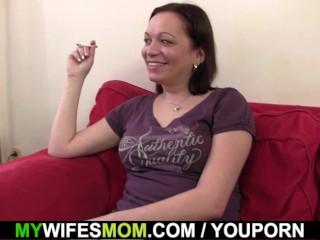 Secretly fucking horny girlfriends mother