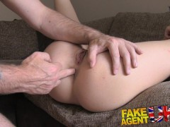 Picture Fake Agent UK Hungarian babe shows great blo...