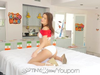 TINY4K Gorgeous Lana Rhoades fucked before cinco de mayo party