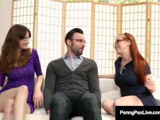 Penny Pax & Jay Taylor Get Fucked By Alex Legend As Nerds!