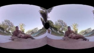 VirtualRealGay.com - Sunset threesome