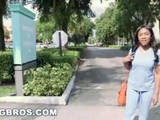 Hot ebony nurse fucked on the Bang Bus (bb13612)
