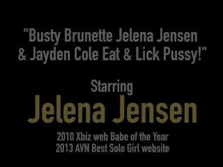 Busty Brunette Jelena Jensen & Jayden Cole Eat & Lick Pussy!