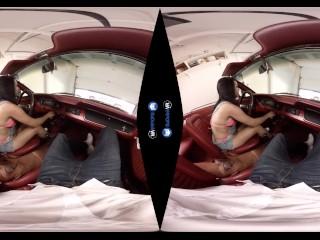 BaDoink VR Tattooed Car Slut Katrina Jade Gets a Rough Fuck in the Garage