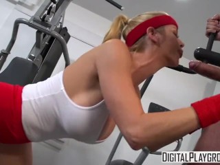 Wettest Workout II - Alexis Fawx gets pounded at the gym and takes a big load