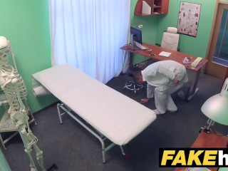 Fake Hospital Horny Milf chiropractor with big tits fucks doctor after massage