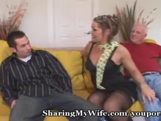 Voyeur/hubby/stud young with woman shared