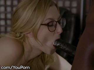 Tiny Student Babe Throats Profs Big Penis