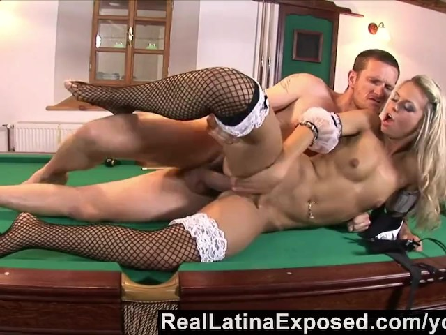 Aletta ocean gets her pussy fucked on a pool table