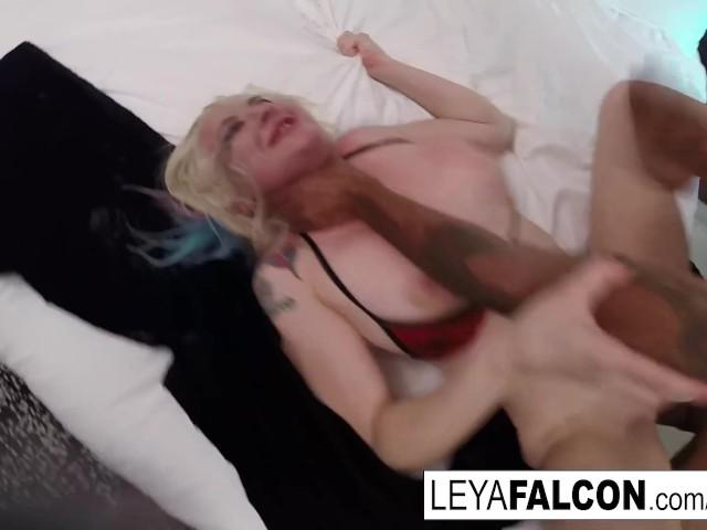 Hot Blonde Interracial Anal