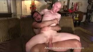 Hairy Stud Fucks Man Pussy